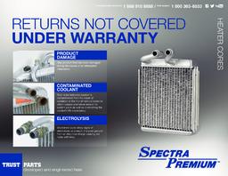 HVAC Heater Core Spectra 99425